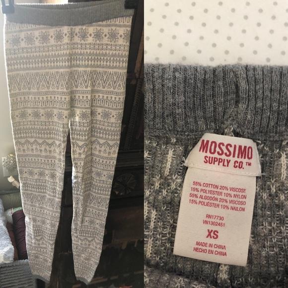 46794758740b9 Pants | Mossimo Supply Co Gray And Cream Knit Leggings | Poshmark
